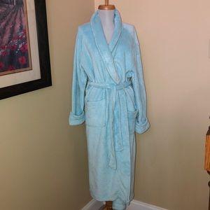 Croft & Barrow Women's Blue Plush Robe (M)